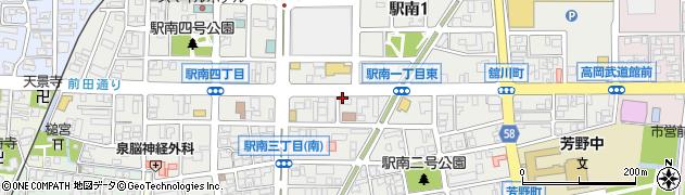 富山県高岡市駅南周辺の地図