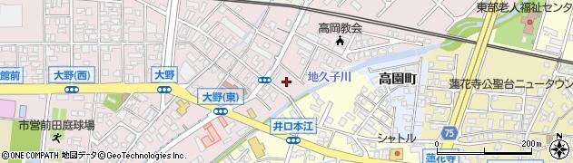 富山県高岡市二枚橋周辺の地図