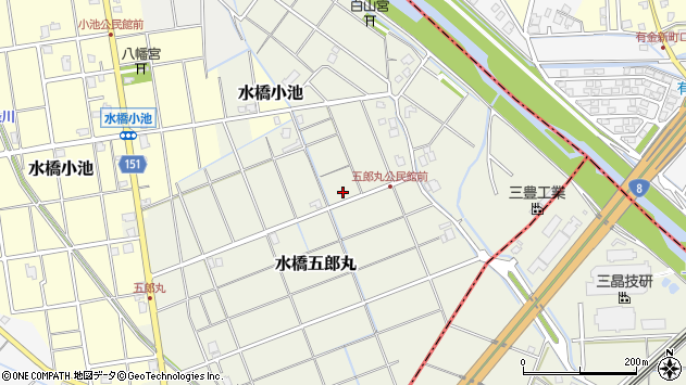 〒939-0543 富山県富山市水橋五郎丸の地図