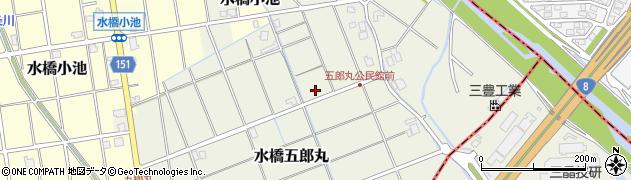 富山県富山市水橋五郎丸周辺の地図