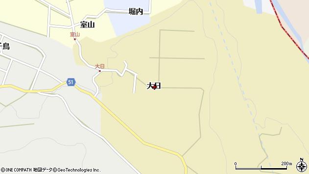 〒936-0813 富山県滑川市大日の地図