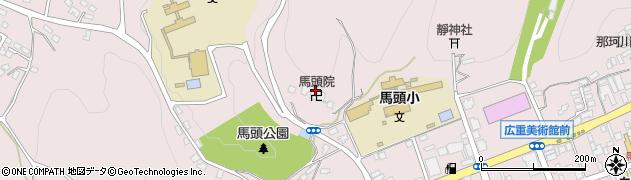 馬頭院周辺の地図
