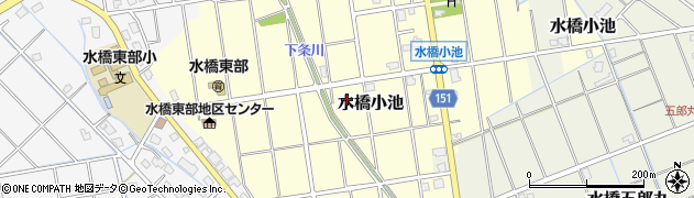 富山県富山市水橋小池周辺の地図