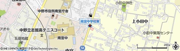 南宮中学東周辺の地図
