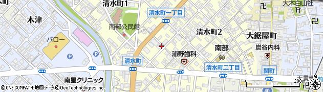 富山県高岡市清水町周辺の地図