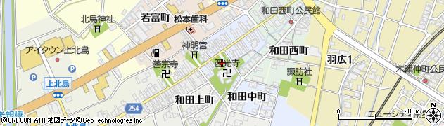 富山県高岡市和田周辺の地図