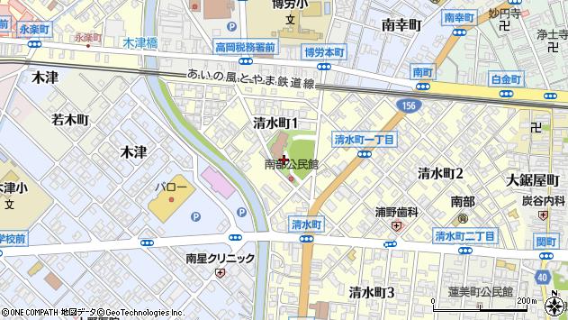 〒933-0866 富山県高岡市清水町の地図