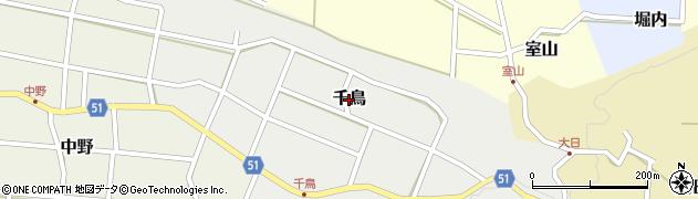 富山県滑川市千鳥周辺の地図