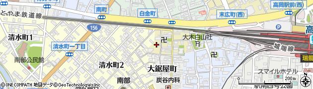 富山県高岡市下関周辺の地図