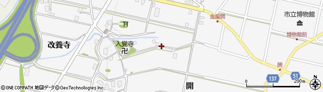 富山県滑川市改養寺周辺の地図