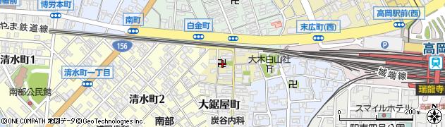 富山県高岡市大工中町周辺の地図