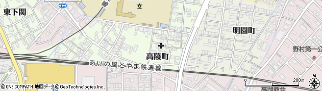 富山県高岡市高陵町周辺の地図