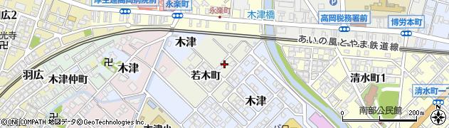 富山県高岡市若木町周辺の地図