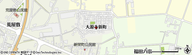 富山県高岡市大源寺新町周辺の地図