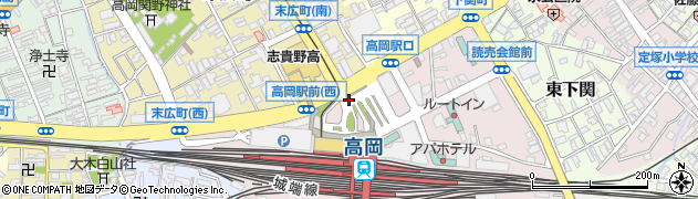 富山県高岡市下関町周辺の地図