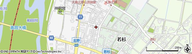 富山県射水市大島北野周辺の地図