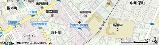 定塚神社周辺の地図