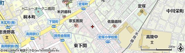 富山県高岡市定塚町周辺の地図