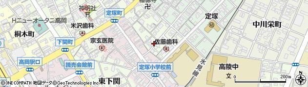 富山県高岡市中川町周辺の地図