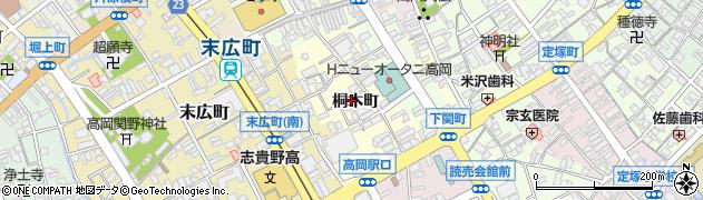 富山県高岡市桐木町周辺の地図