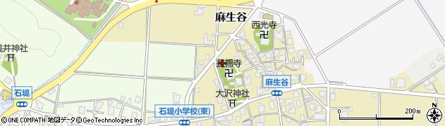 富山県高岡市麻生谷周辺の地図