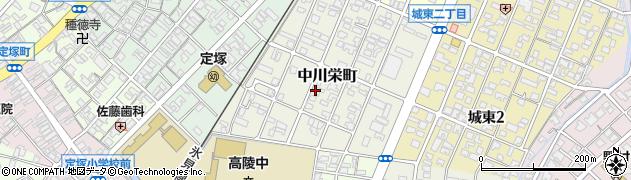 富山県高岡市中川栄町周辺の地図