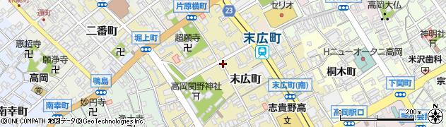 富山県高岡市末広町周辺の地図