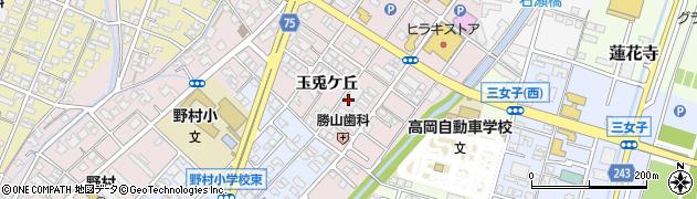 富山県高岡市玉兎ケ丘周辺の地図