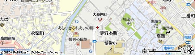 富山県高岡市博労本町周辺の地図