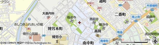 富山県高岡市博労町周辺の地図