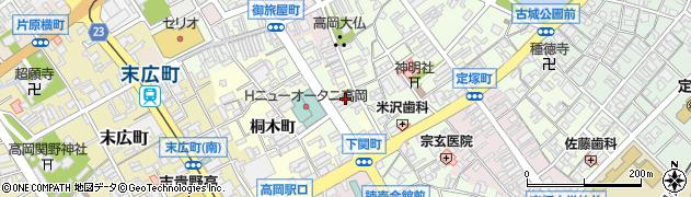 富山県高岡市新横町周辺の地図