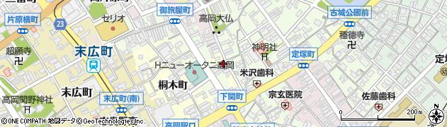 富山県高岡市大仏町周辺の地図
