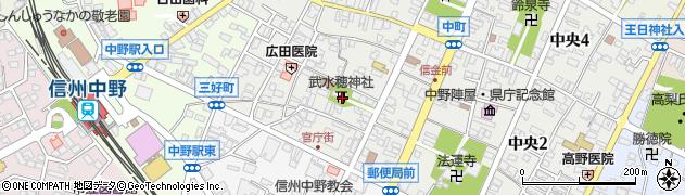 武氷穂神社周辺の地図