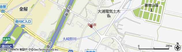 富山県滑川市東金屋周辺の地図