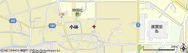 富山県滑川市小林周辺の地図