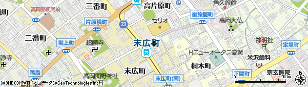 富山県高岡市宮脇町周辺の地図
