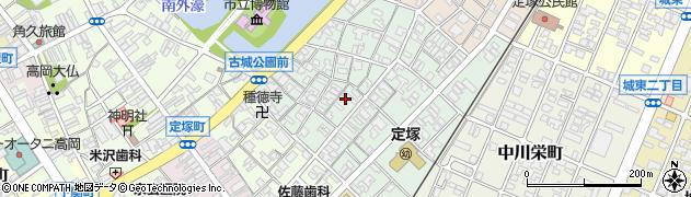 富山県高岡市中川上町周辺の地図