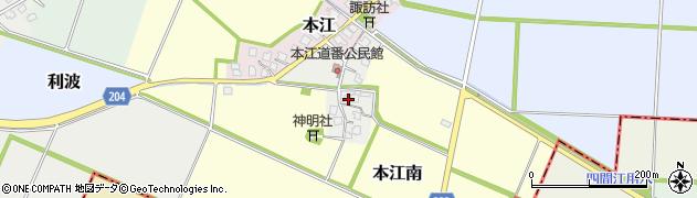 富山県射水市本江利波周辺の地図