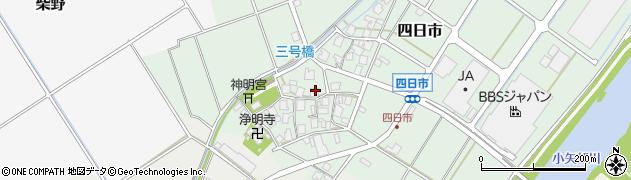 富山県高岡市四日市周辺の地図