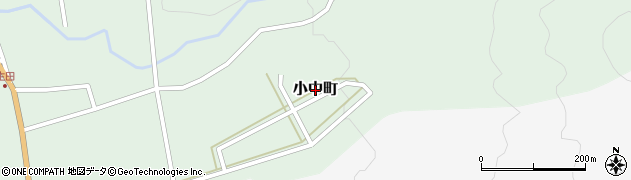 茨城県常陸太田市小中町周辺の地図