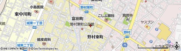 富山県高岡市野村東町周辺の地図