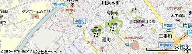 富山県高岡市風呂屋町周辺の地図