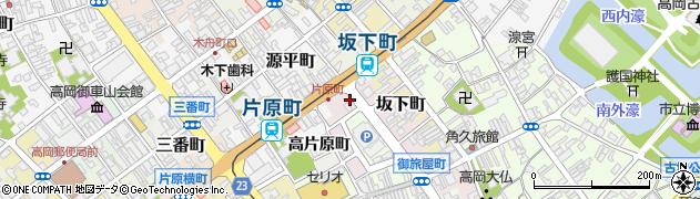 富山県高岡市中央町周辺の地図