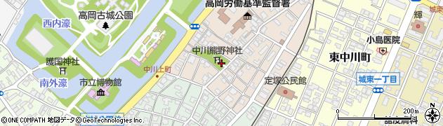 富山県高岡市中川本町周辺の地図