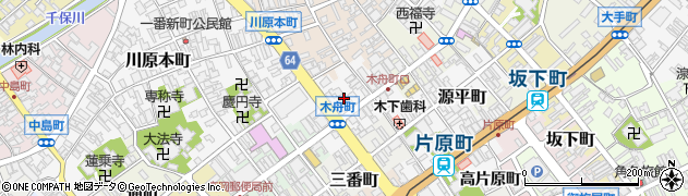 富山県高岡市木舟町周辺の地図
