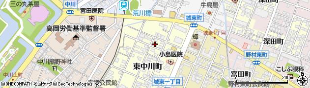 富山県高岡市東中川町周辺の地図