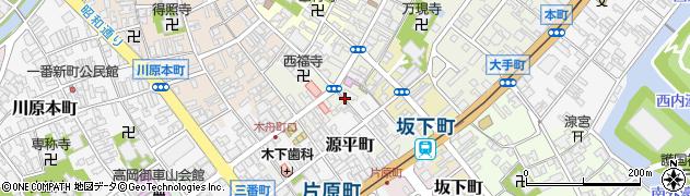 富山県高岡市小馬出町周辺の地図