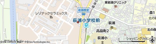 富山県富山市西宮町周辺の地図