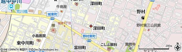富山県高岡市野村深田町周辺の地図