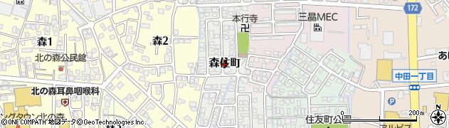 富山県富山市森住町周辺の地図